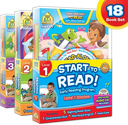 SCHOOL ZONE - Start to Read! Complete Early Reading Program 18-Book Set, Ages 4 to 7, Books, CDs, Workbooks and a Parent Guide
