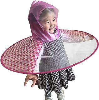 Hibote Bambini Comic Flying Saucer Ombrello Maniglia Bambini Impermeabile per Cappello Trembling Mantello Cappelli Poncho e Mantello B180722KR2-X