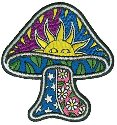 Sun Mushroom - Dan Morris, Sew on Embroidered PATCH for Jeans, Jackets, Pants for Men Women and Kids - 3.25