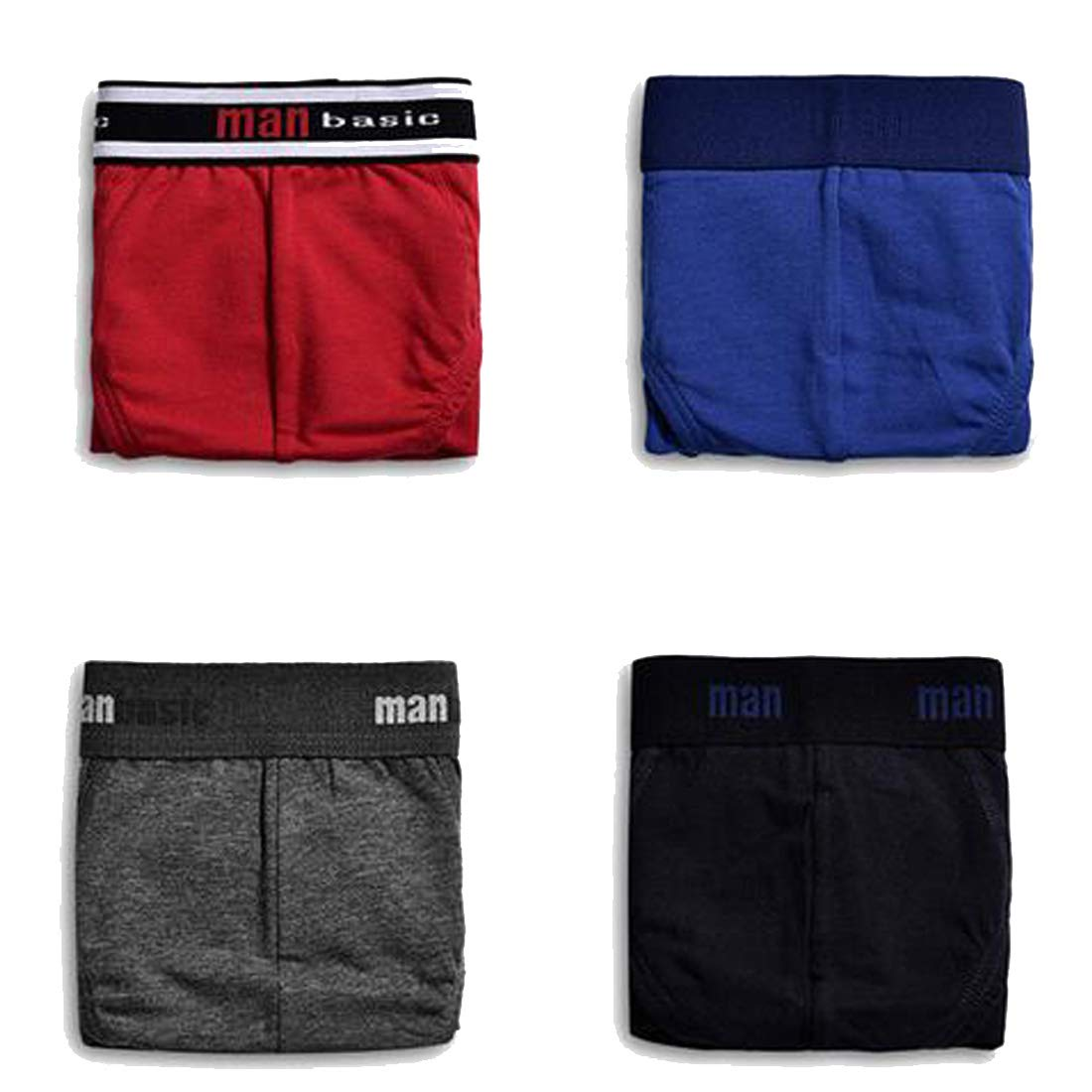 Osave Mens 4-Pack Cotton Full-Cut Low Rise Briefs