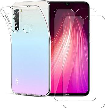Funda + Cristal Templado (2 Piezas) Xiaomi Redmi Note 8 ,Alta ...