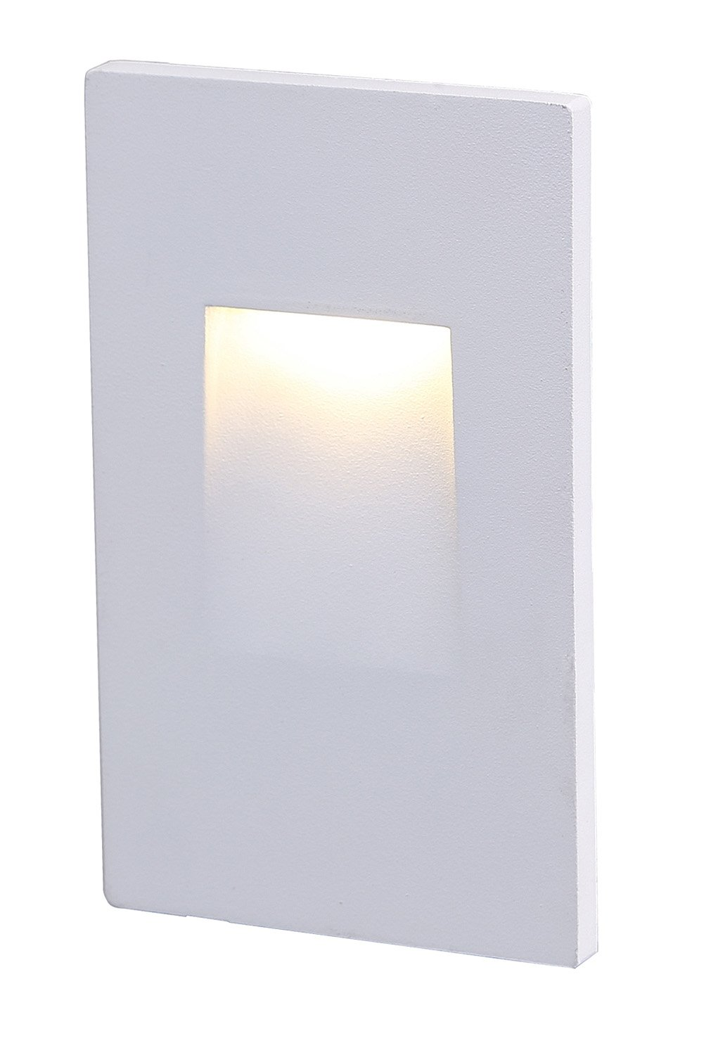 Cloudy Bay CBST004830WH LED Step Light,Vertical,3000K Warm White 3W,Stairway Stair Light,White Finish