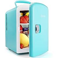 AstroAI Mini Refrigerador, Mini Nevera Portátil para el Skincare 4L 6 Latas de Refrescos, Mini Neveras 220V/12V para…