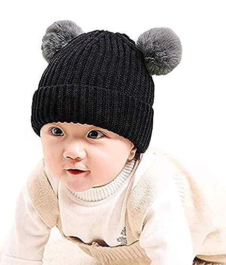 819c8b7751fd IBLUELOVER Chapeau Enfant Hiver Bonnet Bébé Bonnets Laine Tricoté Fille  Garçon Chaud Doux Chapeau Beanie avec
