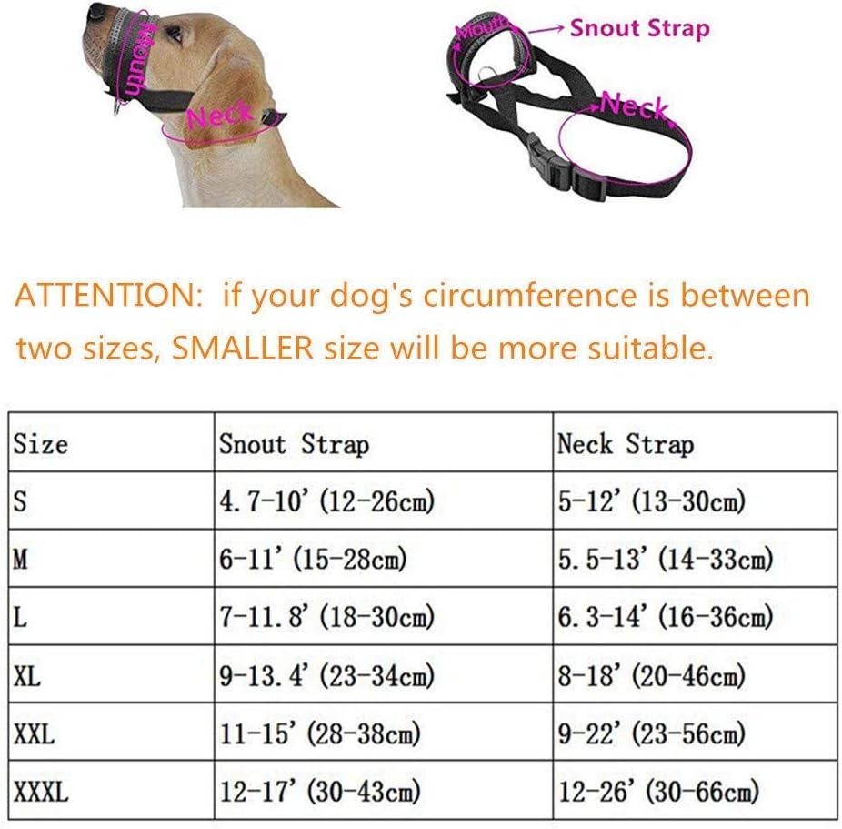 anpassbare Schlinge Bellen und Kauen abzuhalten ILEPARK Maulkorb aus Nylon um Hunde vom Beisen