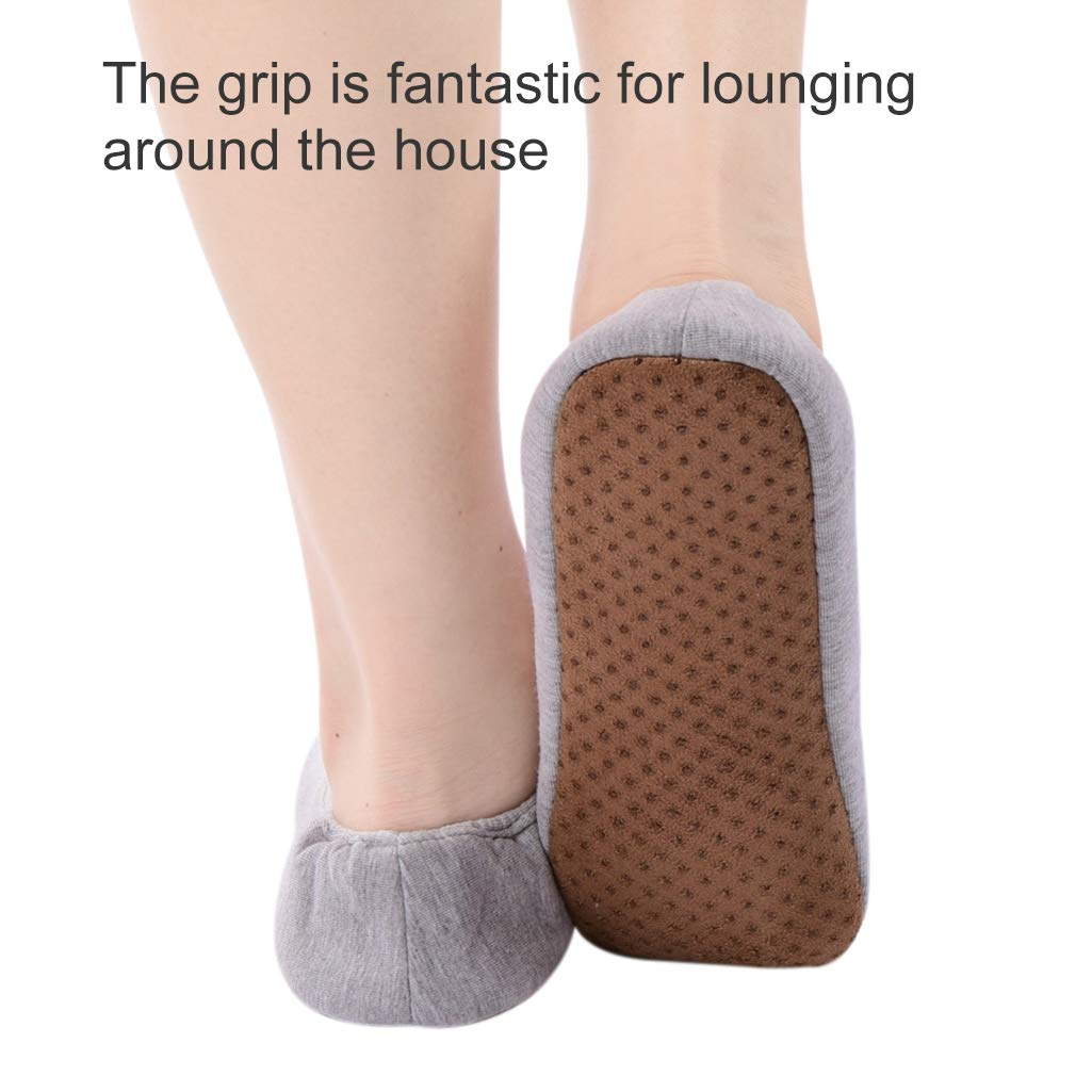 Panda Bros Womens Ballerina House Slippers Anti-Skid Comfy Warm Ballet Style Slippers