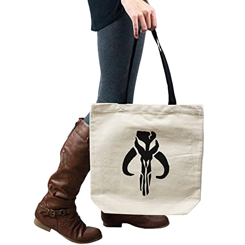 74675d34c Amazon.com: Mandalorian Skull Silhouette Star Wars Inspired Tote Handbag  Shoulder Bag Purse: Shoes