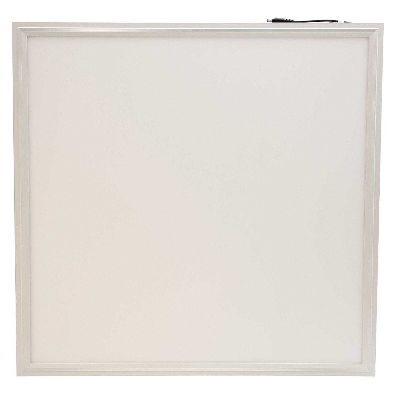 LED Deckenleuchte Panel 60x60 cm quadratisch 40W Watts. Geformtes und lackiertes weißes Aluminiumprofil mit weißem Plastikschatten. 30000 Betriebsstunden und 3 Jahre Garantie. [Energieklasse A] LEDUS - LEDCO