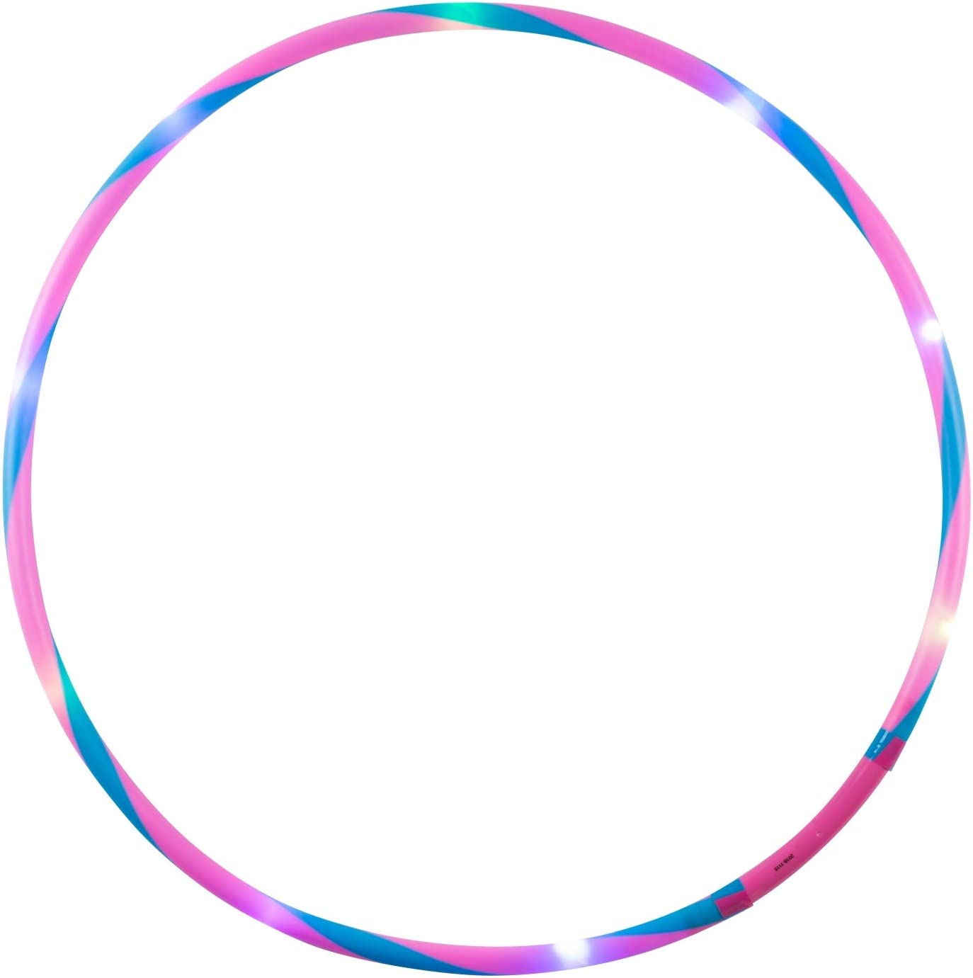 Fitness and Gymnastics Pink//Blue Sports Hoop with Light for Children from 4 Years and Adults alldoro 63005 Fun Diameter 72 cm 11 LEDs Hula