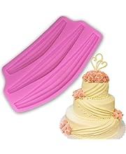 Huge Vintage Swag Cake Border mould Wedding Palace 3D riband Classic Silicone Fondant Mold Fondant candy mold for Sugar paste gumpaste