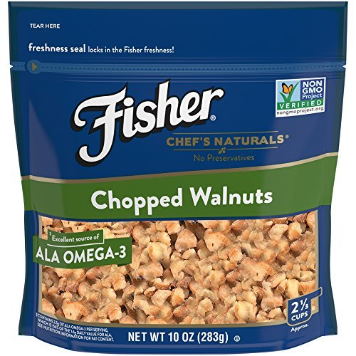 Nuts Chopped (FISHER Chef's Naturals Chopped Walnuts, No Preservatives, Non-GMO, 10 oz)