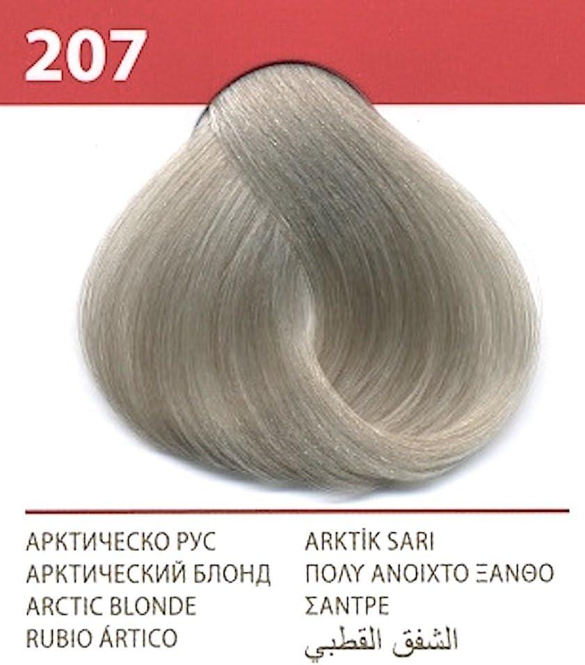 Vips prestige crema colorante para el cabello, color rubio ártico 207