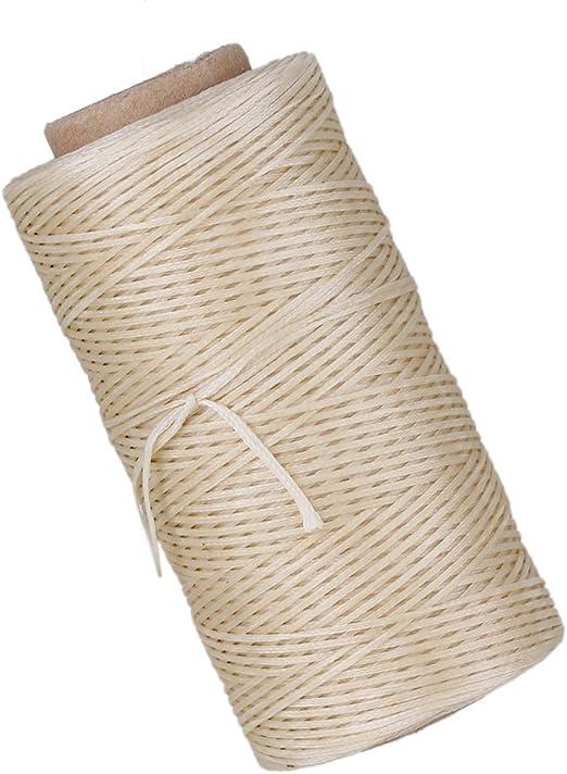 cnbtr 180/m 210d poli/éster de coser hilo de lino encerado trabajos encerado para piel Beige
