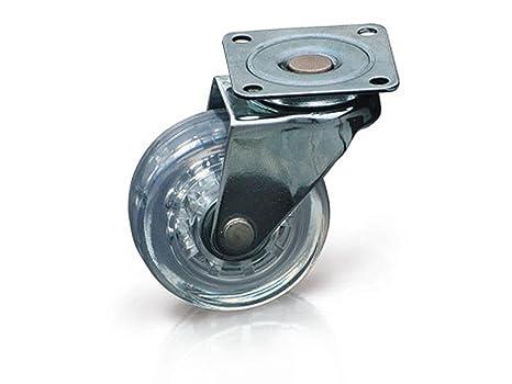 Rueda giratoria para mueble (sin freno, diámetro 50 mm, 40 kg),