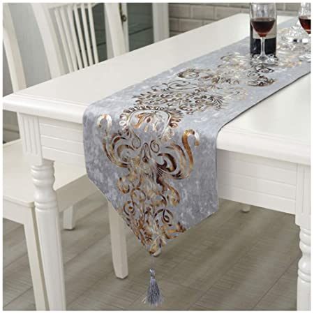 Caminos de mesa Velvet Table Runner Top Decor Mesa de Comedor ...