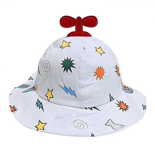 Amazon.com  Baby Summer Cartoon Little Plane Bucket Hat Sun ... a4aa03d74d6