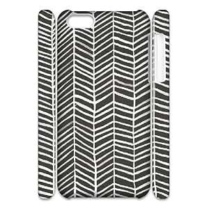 3D IPhone 5C Case Herringbone ¡§C Black & White, Doah, [White]