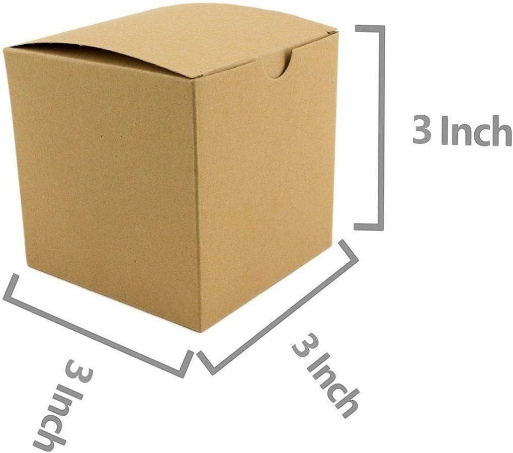 Brown Kraft Paper Box w// Lids Cupcake Boxes Crafts Birthday Wedding Favors BULK