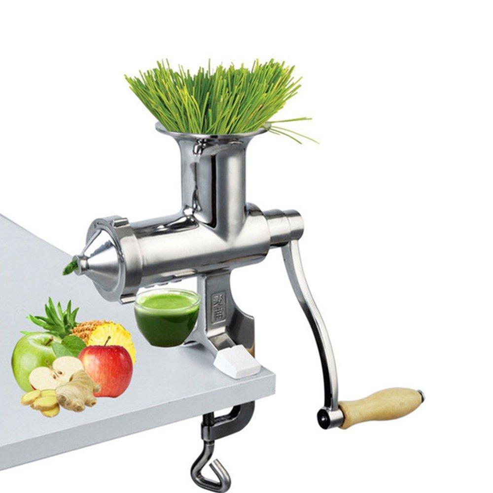 Amazon.com: TongBF Manual Stainless Steel Wheatgrass Juicer Manual Auger Slow Squeezer Fruit Wheat Grass Vegetable Fruit Orange Juice Press Extractor: ...