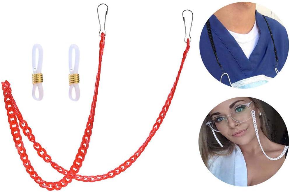 1 Piezas Cadena de cord/ón de m/_/áscara Decorativa Cadena de Gafas Multifuncional Reutilizables Ajustable Seguridad Conveniente Cuerda de Soporte de Oreja