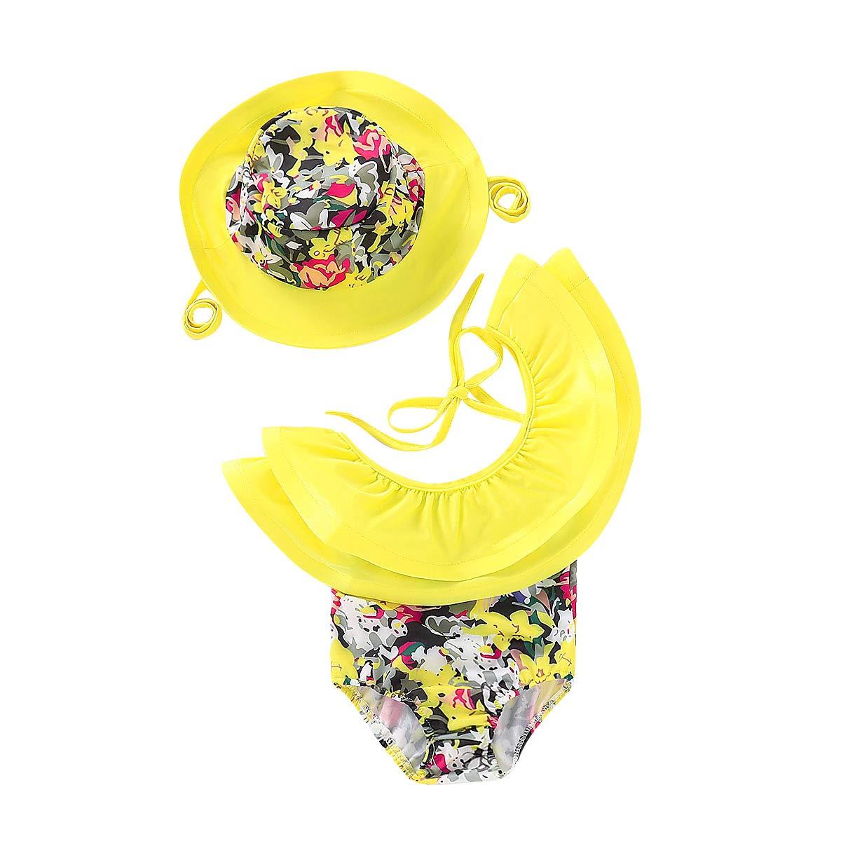 Cute Baby Girl Floral Bow Halter Bikini Set Swimsuit Swimwear Bathing Clothes Sets