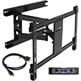 """Everstone Heavy Duty TV Wall Mount for Most 32-70 Inch with Articulating Arm Full Motion Tilt Swivel Bracket 16"""""""