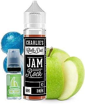 E Liquid Charlies Chalk Dust Jam Rock 50ml - 70vg 30pg - booster shortfill + E Liquid The Boat 10 ml lima limón ...