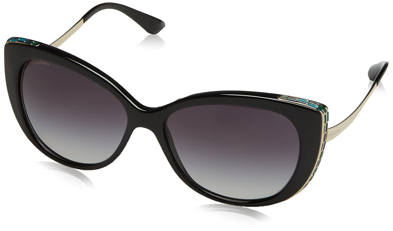 8e91552c75a Amazon.com  Bvlgari BV8178 901-8G Black Gold BV8178 Cats Eyes Sunglasses  Lens Category 3  Bvlgari  Clothing
