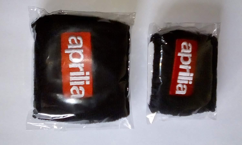 Pair of Suzuki Black motorcycle front /& rear brake reservoir shrouds covers socks