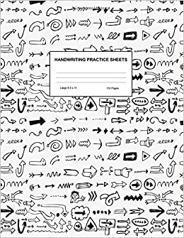 Handwriting Practice Sheets: Cute Blank Lined Paper Notebook ...