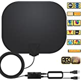 Amplified HD Indoor Digital TV Antenna Long 250 Miles Range Antenna Support 4K 1080p Fire Stick and All Television, Indoor Sm
