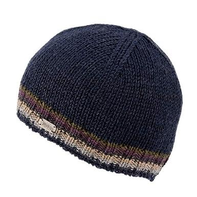 57a136f8018881 Kusan 100% Wool Ribbed Pull On Beanie Hat PK1811 (Navy): Amazon.co.uk:  Clothing