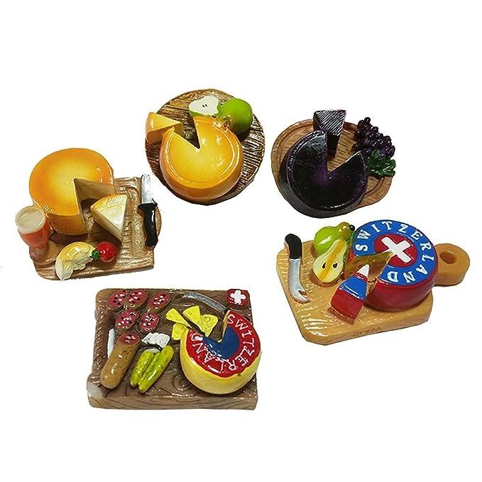gossipboy 5 pcs/1 Set Funny 3d diseño de queso refrigerador imanes ...