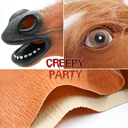 CreepyParty-Novelty-Halloween-Costume-Party-Animal-Head-Sounding-Mask-Brown-Horse