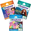 LeapFrog Explorer Learning Game Grade School Readiness Bundle: Science, Math and Reading - Girl