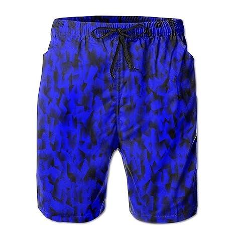 HEAGRWGRE Fondo Azul Patrón Holgado Pantalones de Playa para ...