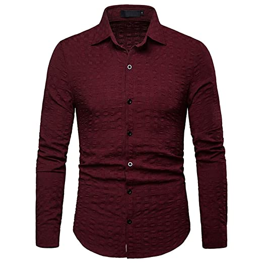 5331175ddd8 Image Unavailable. Image not available for. Color  Hurrybuy Mens Business  Dress Shirts ...