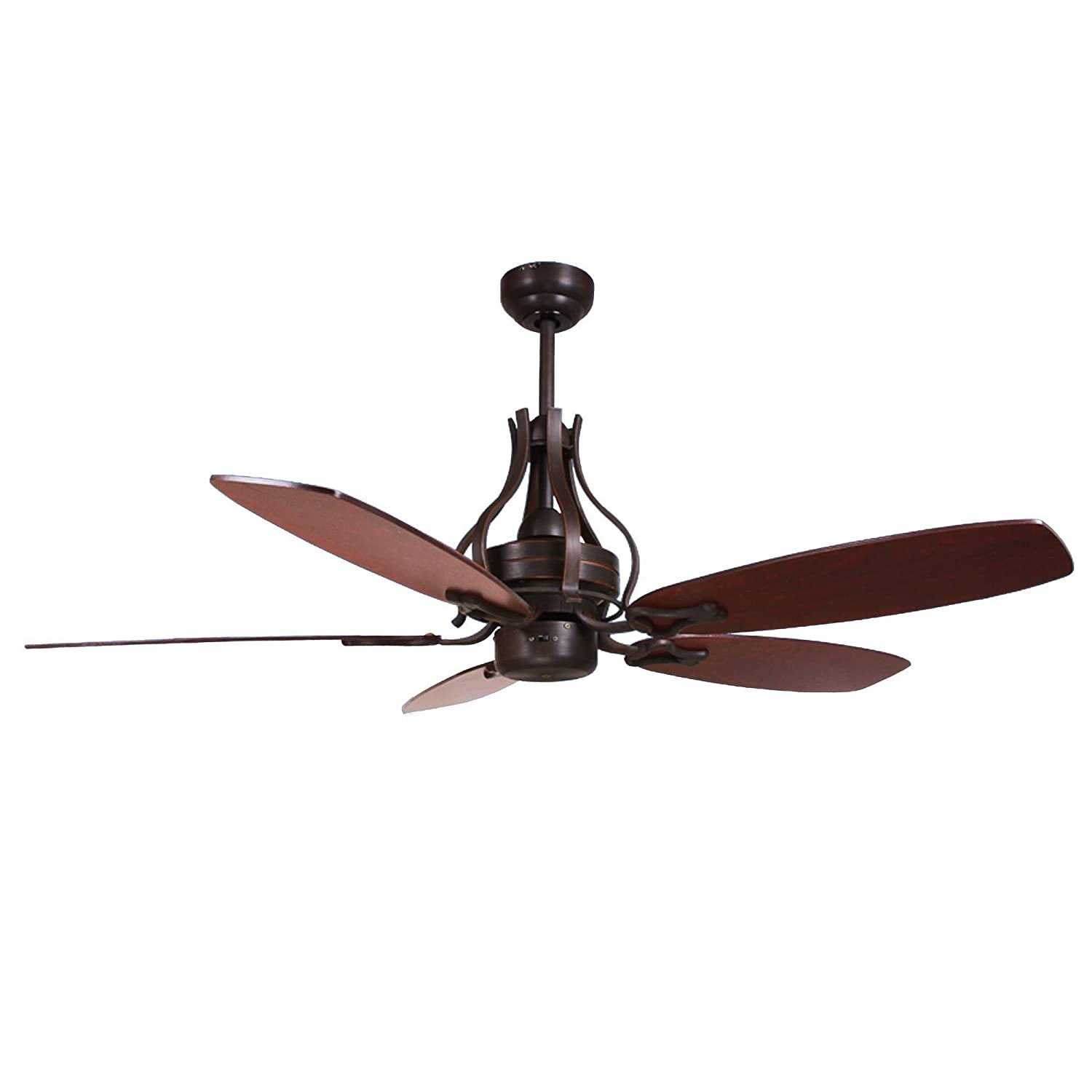 Yosemite Home Decor WASHBURN-ORB-NLK 52-Inch Ceiling Fan in Oil Rubbed Bronze Finish with 80-Inch Lead Wire, Oil Rubbed Bronze [並行輸入品] B01KBQRBN6