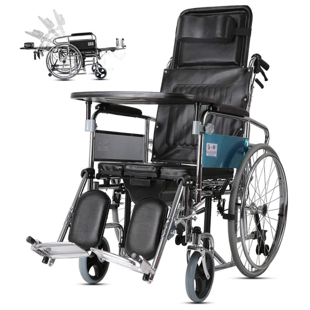 専門ショップ HSBAIS 17\ ドライブメディカルトランスポート車椅子軽量折りたたみ式ドライブ、スチールパイプ頑丈でエレベイティングなレッグレスト,17