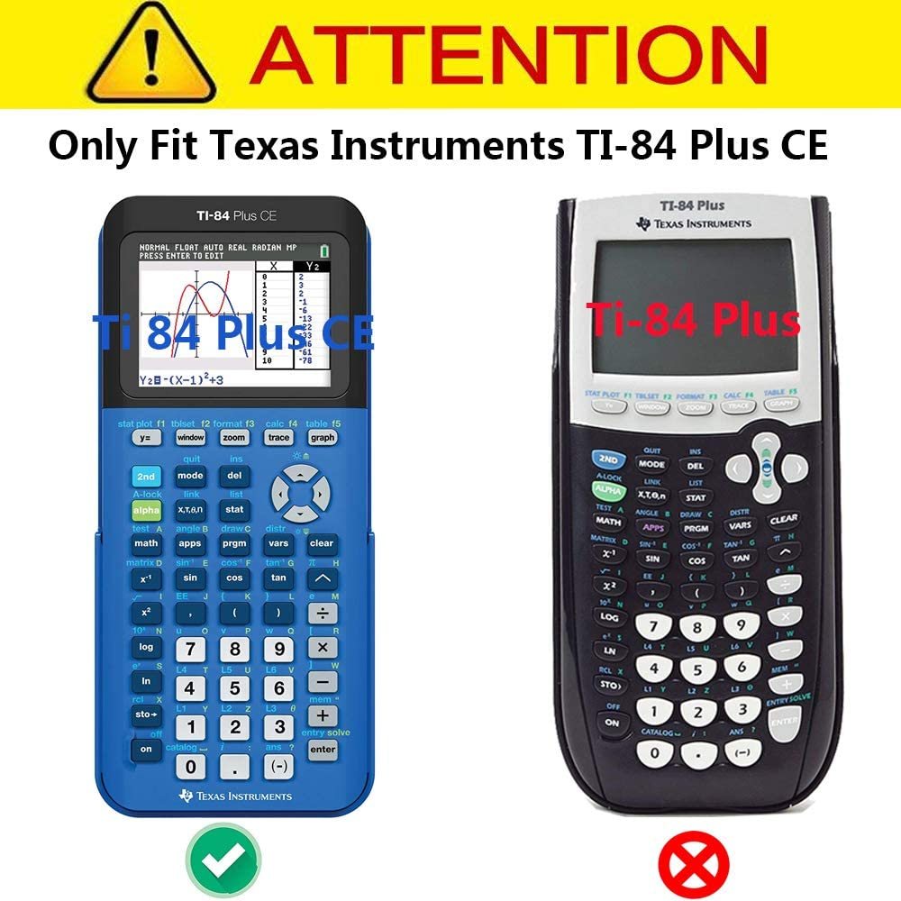 MOTONG for Texas Instruments TI-84 Plus Transparent Silicone Protective Case Silicone Black Silicone Protective Case Cover Shell for Texas Instruments TI-84 Plus Graphing Calculator