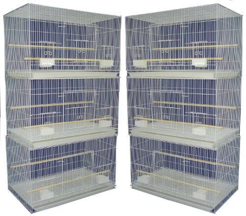 Dog Kennel Breeding - YML Small Breeding Cages, Pack of 6, White