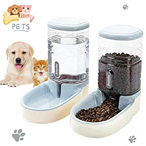 Lucky-M Pets Automatic Feeder and Waterer Set
