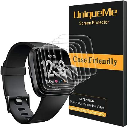 6 Pack Protector de Pantalla Fitbit Versa, Cobertura Total HD Film Flexible Transparente con garant/ía de reemplazo de por Vida para Fitbit Versa LK Sin Burbujas