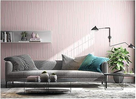 JINFANGBZ Papel Pintado no Tejido Dise/ño Moderno Rayas de estilo n/órdico Sala de estar del Dormitorio de la Pared del Fondo de la TV,Azul claro 82131