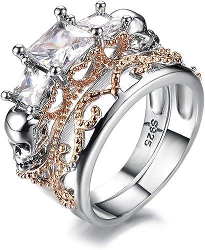 Amazon Com Kalapure Rose Gold Plated Sterling Silver Princess Cut