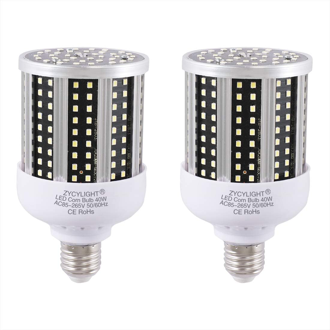 500W Equivalent 2 Pack ,7500 Lumen,6000K- 6500K,Cool Daylight LED Street and Area Light,E39 Mogul Base,for Outdoor Indoor Garage Warehouse High Bay Barn Backyard and More LED Corn Bulb 80 Watt