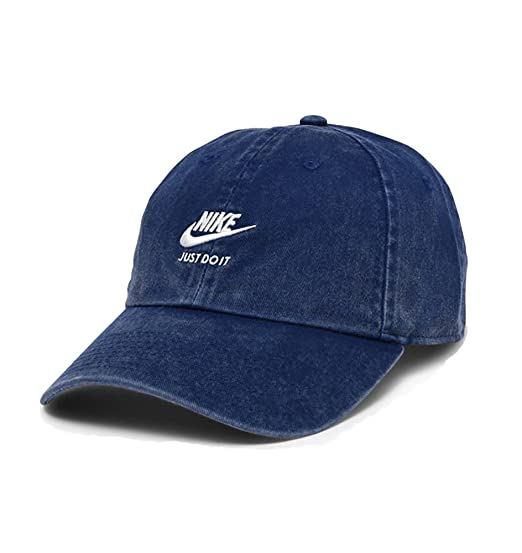 fdab93c9834 Nike Women s Sportswear Heritage 86 Adjustable Hat (Blue Void Diffused  Blue Sail