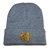 BARONL Miguel Cotto Logo Beanie Fashion Unisex Embroidery Beanies Skullies Knitted Hats Skull Caps - Grey