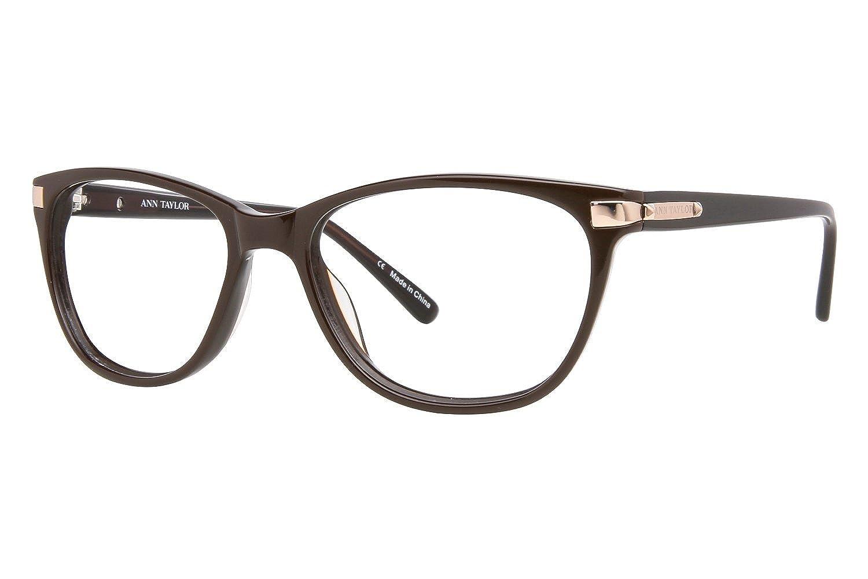 16bde5a6a59 Amazon.com  Ann Taylor AT302 Eyeglass Frames - Frame Translucent  Brown Brown