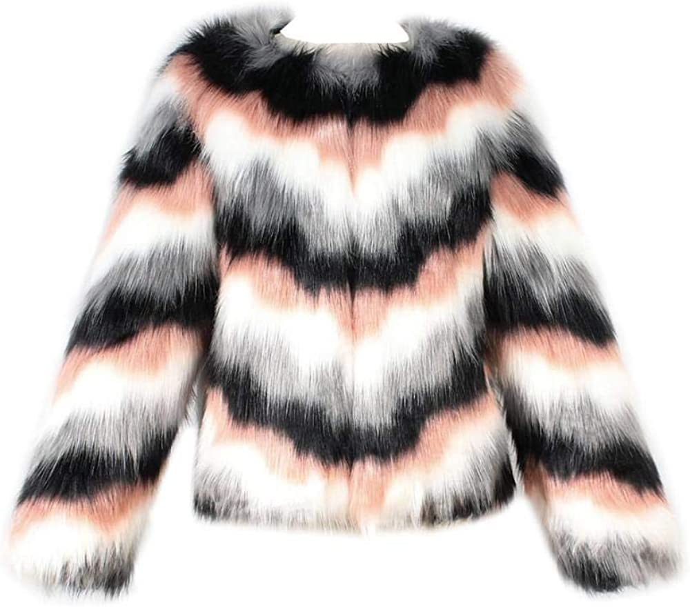 Faux Fur Coat Women Jackets Coats Womens Faux Fur Winter Hooded Cardigan Coat